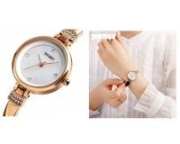 Часы наручные Skmei 1409 золото женские, стрелочные, сталь