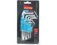 Набор ключей шестигранных (HEX) Smartbuy Tools SBT-HSS-9 9 шт. (1.5, 2, 2.5, 3, 4, 5, 6, 8, 10) с шаром на конце, блистер