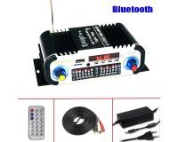 Усилитель звука Kentiger HY-V6 2 х 15 Вт, Bluetooth, цифровой радиоприемник 87.5-108 мГц , поддержка USB, SD/MMC до 16 гб, размер: 18 х 9.5 х 5.5 см, пульт ДУ