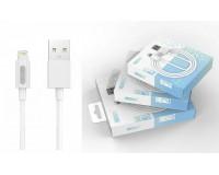 Кабель iPhone 5 EZRA длина 2м, ток до 2, 1 А, коробка, белый (C001)