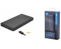 Портативное зарядное устройство EZRA PB02 10000 мАч 1USB выход 5В/2А, 2USB выход 5В/2А, суммарный 5В/2А, черный