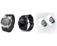 Часы Smart EZRA SW07 слот для SIM, TF, Bluetooth, шагомер, счетчик калорий...., черный