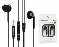 Наушники с микрофоном Borofone BM30 Original series вкладыши, кабель 1, 2м, коробка, черный