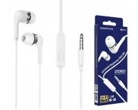 Наушники с микрофоном Borofone BM39 Refined chant вкладыши, кабель 1, 2м, коробка, белый
