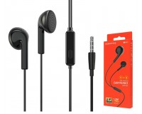 Наушники с микрофоном Borofone BM40 Sage вкладыши, кабель 1, 2м, коробка, черный