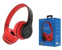 Наушники беспроводные Borofone BO4 Charming rhyme накладные, Bluetooth, коробка, красный
