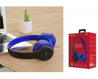 Наушники беспроводные Borofone BO4 Charming rhyme накладные, Bluetooth, коробка, синий