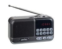 Приемник Perfeo PF-B4060 /i20 ASPEN аккумуляторно-сетевой AUX/USB/microSD до 32 Гб, 3 Вт., FM (87, 5-108МГц), автопоиск, LED-дисплей, питание: 5 В USB или аккумулятор 18650, размер: 110 х 63 х 35 мм., серый