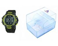 Часы наручные iTaiTek IT-373 электронные (дата, будильник, секундомер, таймер), пластик, подсветка, желтый