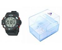 Часы наручные iTaiTek IT-386 электронные (дата, будильник, секундомер, таймер), пластик, подсветка, оранжевый