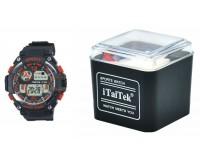 Часы наручные iTaiTek IT-882 электронные (дата, будильник, секундомер, таймер), пластик, подсветка, красный