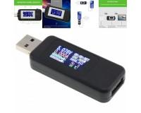 USB тестер Keweisi KWS-MX18 измерение тока, напряжения, энергии, сопротивления, QC2.0, QC3.0, черный