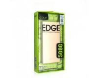 Портативное зарядное устройство GOLF EDGE5 5000 мАч USB выход 5В/2.1А, + кабель MicroUSB, золото
