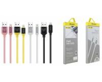 Кабель iPhone 5 Awei длина 1м, допустимый ток до 2А, коробка, цветной (CL-80)