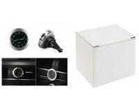 Часы автомобильные Орбита OT-CLC02 (449) кварцевые, серебро