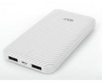 Портативное зарядное устройство GOLF G39 10000 мАч 1USB выход 5В/1А, 2USB выход 5В/2.1А, + кабель Micro usb /In Micro usb
