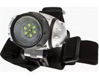 Фонарь налобный Космос H19-LED 1W XPE LED + 6 SMD LED, 3хR3, батарейки в комплекте