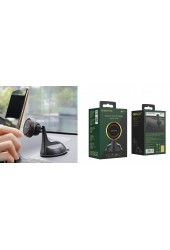 Держатель Borofone BH14 Journey для смартфона, навигатора, на панель приборов, на стекло, магнит, черно-красный