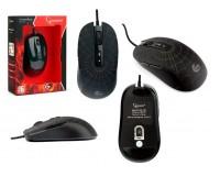 Мышь игровая Gembird MG-560 USB Optical (800/1600/2400/3200 dpi) черная, 6 кнопок+колесо-кнопка ПО для макросов, RGB подсветка в виде паутины, покрытие Soft touch, коробка