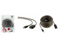 Кабель USB A штекер - USB A гнездо Cablexpert длина 15м, для жестких дисков, принтеров и т.п., коричневый (UAE-01-15M)