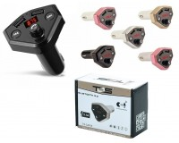 FM трансмиттер TDS TS-CAF05 12/24В, USB/microSD/AUX, автомобильный, Bluetooth 5, 0, USB зарядка 3100 mA, коробка, цветной