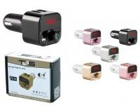 FM трансмиттер TDS TS-CAF06 12/24В, USB/microSD/AUX, автомобильный, Bluetooth 5, 0, USB зарядка 3100 mA, коробка, цветной