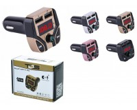 FM трансмиттер TDS TS-CAF09 12/24В, USB/microSD/AUX, автомобильный, Bluetooth 5, 0, USB зарядка 3100 mA, коробка, цветной