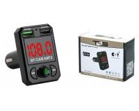 FM трансмиттер TDS TS-CAF10 12/24В, USB/microSD/AUX, автомобильный, Bluetooth 5, 0, USB зарядка 3100 mA, коробка, черный