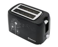 Тостер SAKURA SA-7608BK 750 Вт., поддон для крошек, автоматическое отключение