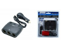 Переходник для прикуривателя OLESSON 1677 на 3 гнезда(120W) + 2 USB(5V/1200mA), на шнуре до 0, 6 м