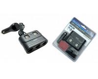 Переходник для прикуривателя OLESSON 1678 на 3 гнезда(120W) + 4 USB(5V/2100mA), на шнуре до 0, 6 м