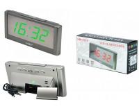 Часы сетевые VST 731Y-4 яркие зеленые цифры, без блока питания
