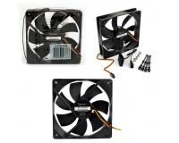 Вентилятор для корпуса Gembird S12025H-3P4M 120x120x25мм, 3pin/4pin Molex, провод 30 см, гидродинамический подшипник, тихий