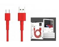 Кабель Type-C SENDEM длина 1м, USB 5A, коробка, красный (M66)