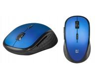 Мышь беспроводная Defender Aero MM-755 6D USB Optical (800/1200/1600 dpi) синий 5 кнопок+колесо-кнопка, бесшумная, блистер