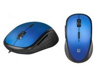 Мышь Defender Accura MM-520 USB Optical(800/1200/1600dpi) синяя, 5 кнопок+колесо-кнопка, бесшумная, блистер