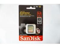 Флэш карта SDXC 64 GB SanDisk Class 10 Extreme 64GB 150MB/s V30