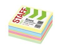 Блок самоклеящийся STAFF 129348 на 250 листов, размер: 51х51мм., 7 цветов