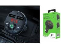 FM трансмиттер Borofone BC26 Music joy 12-24В, USB, автомобильный, Bluetooth 4.2, USB зарядка 2100 mA, коробка, черный