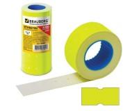 Этикетки BRAUBERG 123569 размер: 21х12 мм прямоугольные желтые, 5 рулонов по 600шт