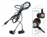 Наушники с микрофоном EZRA EP09 внутриканальные, кабель 1, 2м, коробка, черные