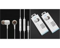 Наушники с микрофоном EZRA EP14 внутриканальные, кабель 1, 2м, коробка, белые