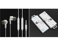 Наушники с микрофоном EZRA EP17 внутриканальные, кабель 1, 2м, коробка, белые