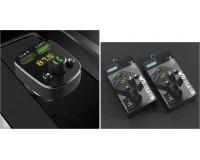 FM трансмиттер EZRA BCR02 12/24В, USB/AUX, автомобильный, Bluetooth 5, 0, USB зарядка 3100 mA, микрофон, коробка, черный