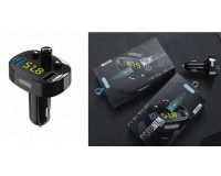 FM трансмиттер EZRA BCR03 12/24В, USB/AUX, автомобильный, Bluetooth 5, 0, USB зарядка 3100 mA, микрофон, коробка, черный