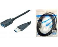 Кабель USB A штекер - USB A гнездо Орбита длина 3м, USB 3.0, пакет (OT-PCC18)