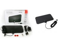 Антенна TV SmartBuy SB-DA-T2-W86AMPL Прямоугольная активная, с внешним усилителем до 35 дб (питание от USB), DVB-T2, кабель 3 м