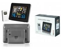 Метеостанция Орбита OT-HOM13 дисплей цветной, анимационный часы, будильник, комнатная/уличная температура, влажность, беспроводной датчик, черный