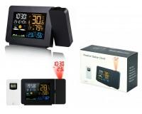 Метеостанция Орбита OT-HOM15 дисплей цветной, анимационный часы, будильник, комнатная/уличная температура, влажность, проектор, беспроводной датчик, черный