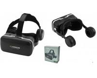 Очки виртуальной реальности Shinecon SC-G04E для смартфонов с диагональю экрана 4, 7 - 6 дюймов , диаметр линз 42 мм, наушники